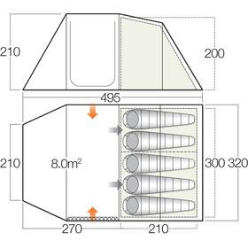 Vango Drummond 500 Tent green